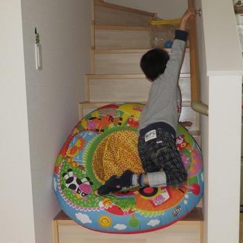 *階段すべり*