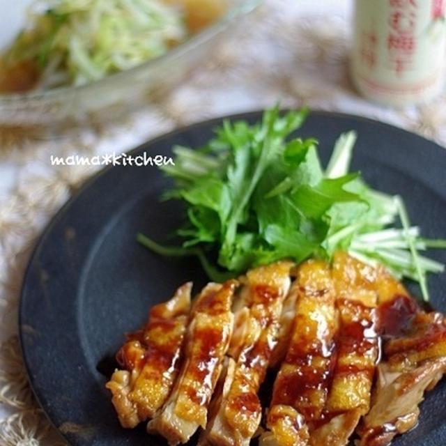 酢鶏と、もやしときゅうりの簡単梅浸し