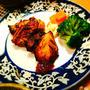 タンドーリチキンの夕食