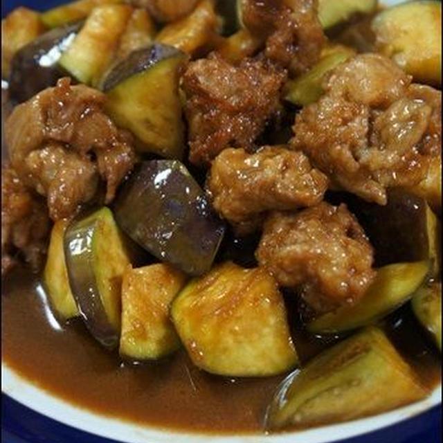 【節約メニュー】茄子と薄切り肉のコロコロ炒め。