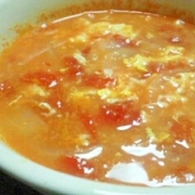 塩麹トマたまスープ