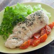 鶏胸肉のボイル 〜 ミントとガーリック風味