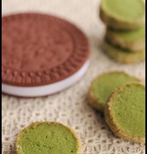 抹茶のアイスボックスクッキーとラッピング