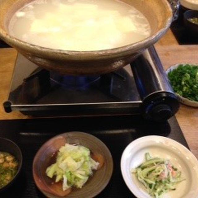 お昼から湯豆腐