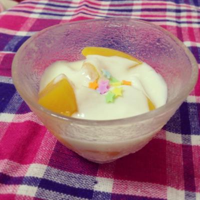 桃マシュマロのもふもふヨーグルト