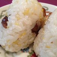 佐渡産コシヒカリで作る 「甘栗ともちきびのおにぎり」