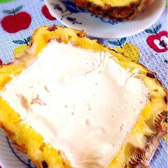 パイナップル豆乳ヨーグルト。