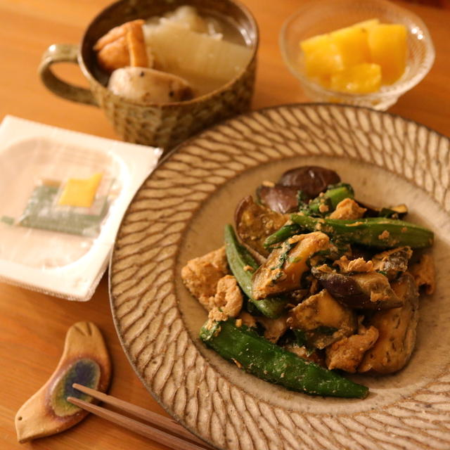 ホットクックでおでんが染みうま。と、ナスとオクラの大葉味噌炒めレシピ。