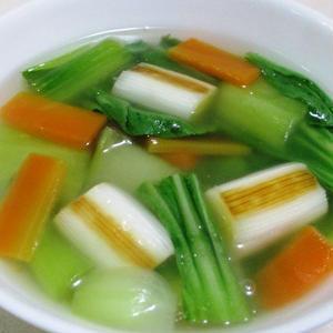 あっという間に中華風!チンゲン菜を使ってスープを作ろう♪
