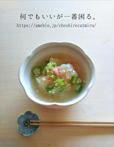 冬瓜とオクラの煮物