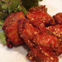 おいしくて楽しい ♪ お弁当レシピ④ 「真っ赤なチキンと葱の生菜チキン」。