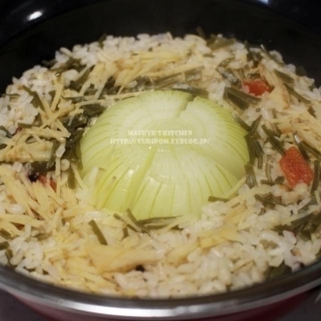 【新玉ねぎレシピ  ~ 生姜昆布水で玉ねぎまるごと炊き込みごはん。(静岡クッキングアンバサダー) 】