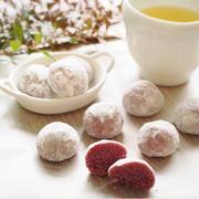 米粉の紫芋スノーボール de おやつ時間。。。