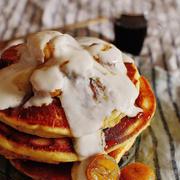 驚きの超しっとり!バナナヨーグルトパンケーキ