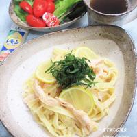 簡単&美味しい。『鶏肉と明太子のパスタ』レモンで爽やかプラス。