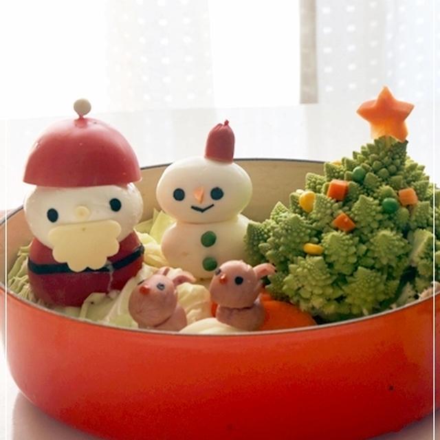 【クリスマスツリー&サンタさんのキャラ鍋*デコ鍋レシピ】