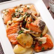 鮭とじゃがいものめんつゆバター【#作り置き #お弁当 #子供が喜ぶ #魚 #主菜】