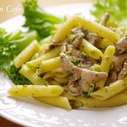 スパイスで簡単!豚バラ肉とブロッコリーのペンネパスタ(ワインの簡単おつまみ)