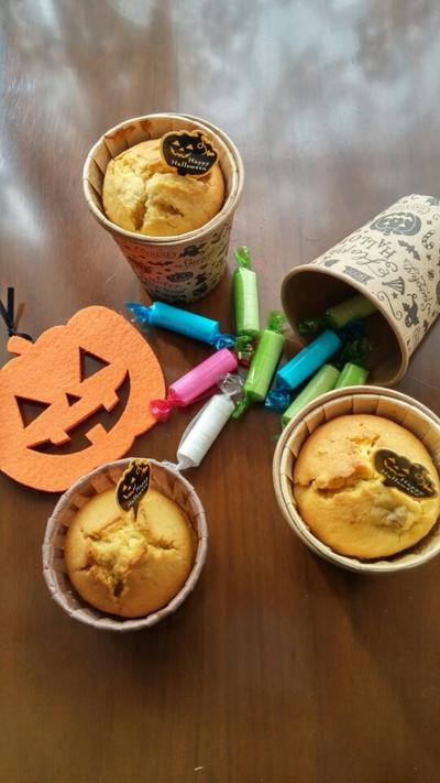 ハロウィンにもおすすめ☆かぼちゃとバナナのしっとりマフィン