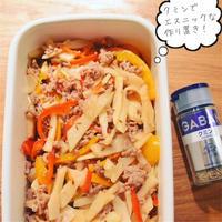 筍と挽肉のクミン炒め*便利な作り置き〜♪