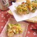 食べて楽しい♪ 夏野菜のかき揚げ by Aya♪さん