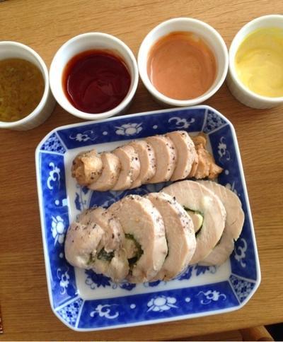 鶏ハム☆簡単4色ソース