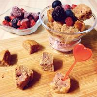 【ヘルシースイーツ】グルテンフリー&砂糖不使用☆いちごとココナッツのバレンタインケーキ