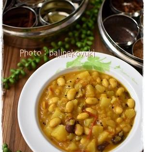 スパイスで作る絶品!豆とじゃがいものスパイスカレー