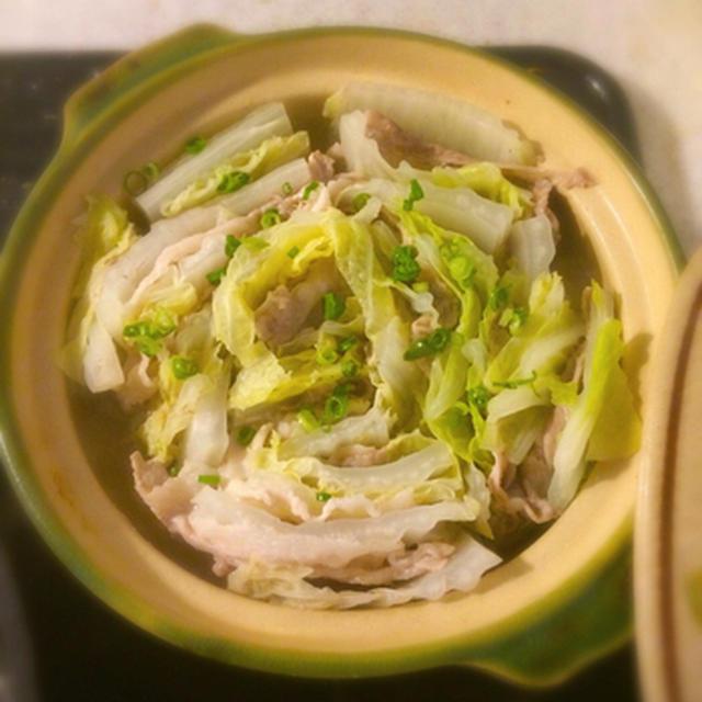 豚バラと白菜のミルフィーユ鍋