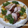ローストポークと炊飯器ラタトゥイユと豆乳味噌汁