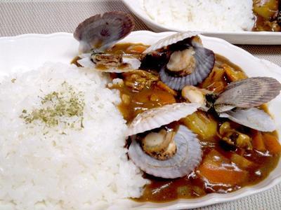 【レシピ】贅沢!貝がゴロゴロ!シーフードカレー(^^♪