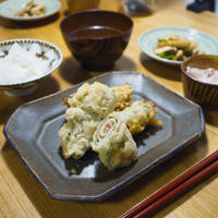 【米油部】豚肉の梅しそ天ぷらごはん
