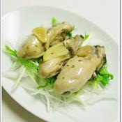 牡蠣のハーブガーリックオイル漬け