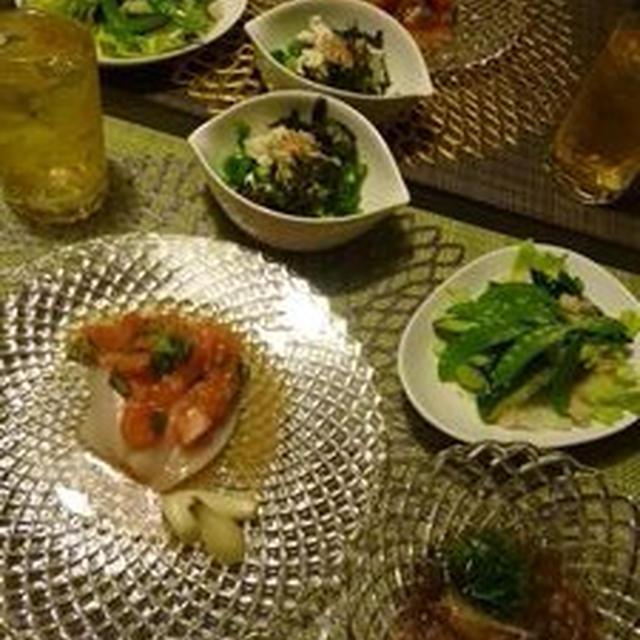夕飯(ホタテのケッカソース)