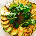 焼きズッキーニと香菜のサラダ