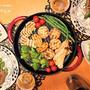 ストウブで『ピーマン肉詰め&野菜グリル』な夜。