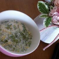 早茹でパスタで、お味噌汁リメイクスープ