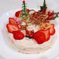 【糖質制限】全量約360kcal苺クリスマスケーキ