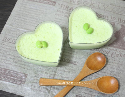 乳製品不使用・メープルシロップで作る!! ヘルシーな枝豆ぷりん