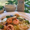夕食は・・「ヒガシマル 牡蠣だし醤油」で簡単味付け皿うどん !! by pentaさん