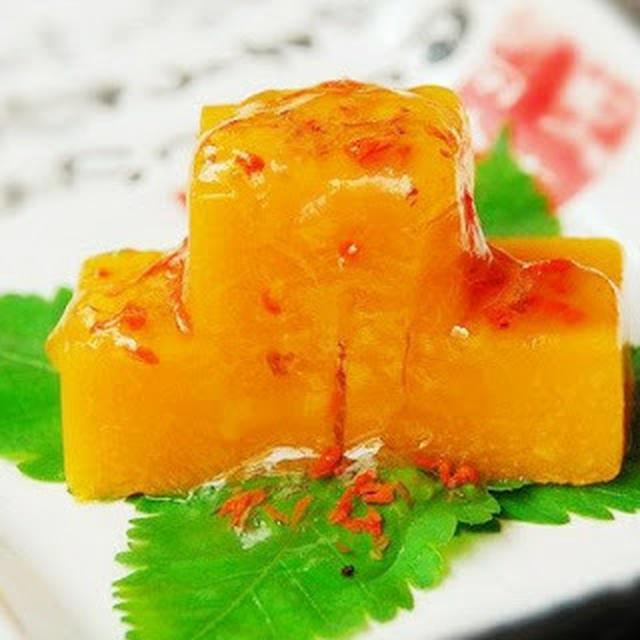 桂花南瓜|カボチャの甘露蒸桂花風味づけ