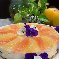 「モニター」、爽やかさアップ!!フープロで簡単フロリダグレープフルーツで二層レアーチーズケーキ