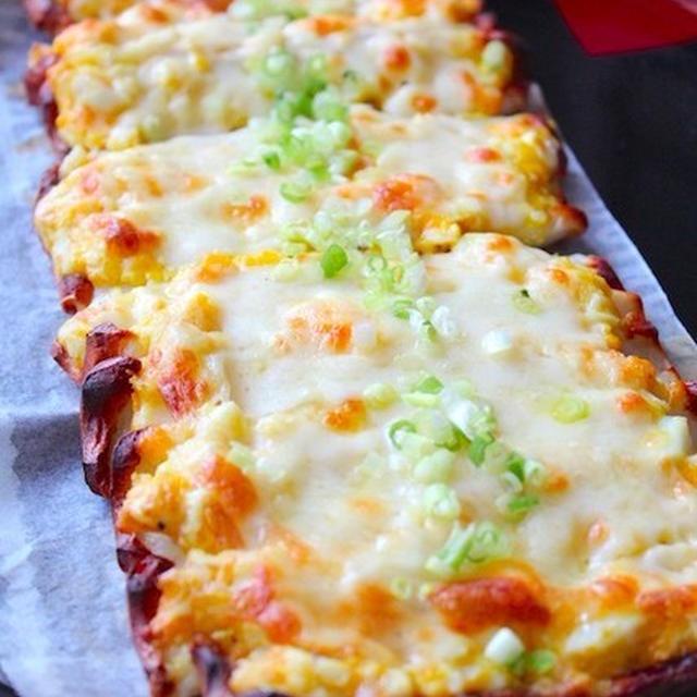ちくわのタルタルピザ