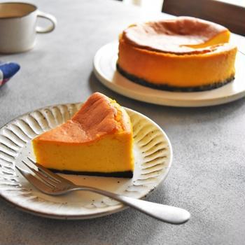 混ぜて焼くだけ♪濃厚かぼちゃのニューヨークチーズケーキ【BIGLOBE beauty連載1回目】