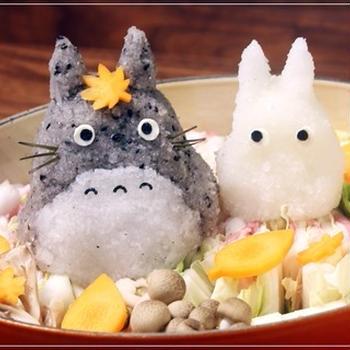 トトロ&白トトロの秋のデコ鍋