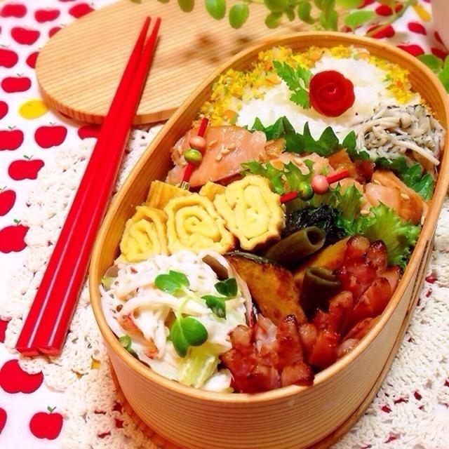 本日のお弁当各レシピ♡とチップ入りふりかけいろいろ♡