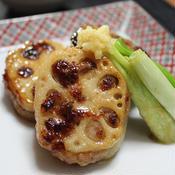 生姜風味のレンコンはさみ焼き