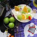 レッツ!ハロウィン!シャインマスカットとメイヤーレモンの蜂蜜マシュマロヨーグルト♪