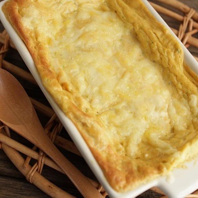 卵と豆腐のふわふわチーズ焼き。