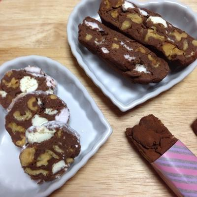 食感が楽しい♪「クルミとマシュマロの生チョコバー」バレンタインに♡